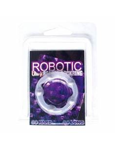 Anillo Robotic Beaded Transparente