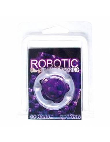 Anillo Robotic Beaded Transparente