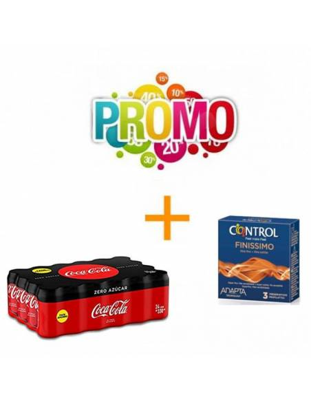 Lot Nº3 (Control Finissimo 3uds. + Coca-Cola Zero 330ml)