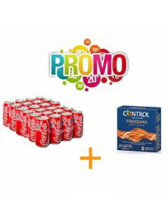 Lote Nº10 (Control Finissimo 3ud + CocaCola 33cl)