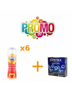 Lot Nº2 (Control Nature 3uds. + Lubri Durex Strawberry 6uds.)