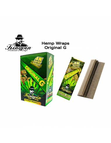 Papel Kingpin Hemp Wrap Original G (Natural)