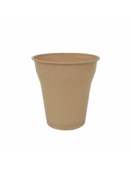 Vaso Plástico Beige para Vending 160ml