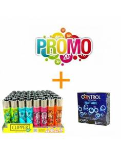 Lote Control Nature 3uds. + Mechero Clipper Novedades