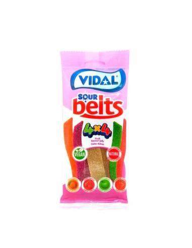 Sour Belts 4x4 100g Vidal