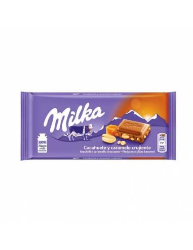 Milka Cacahuete y Caramelo Crujiente 90g