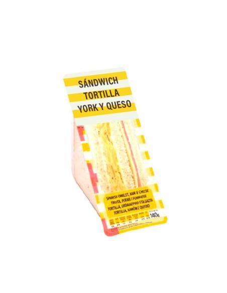 Sandwich Tortilla, York y Queso 140g