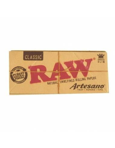 Raw artesano 1.1/4, con tips perforados